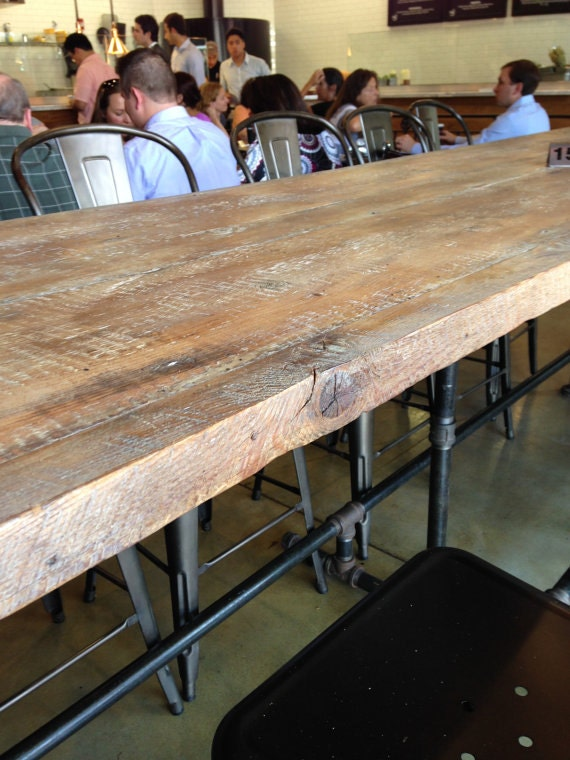 Dining Tablemetal And Reclaimed Wood Conference Table Modern