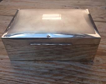 Vintage sterling silver cigarette box