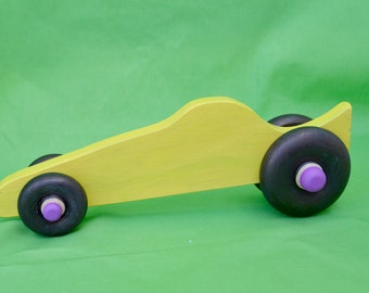 Race Car, Car, Yellow Race Car, Wood Race Car, Toy Race Car