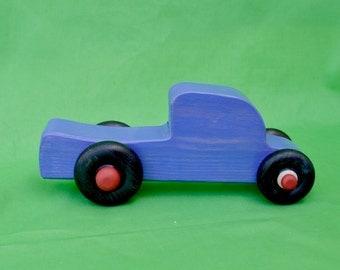 Purple Truck, Toy Wood Truck, Toy Truck, Purple Toy Truck,
