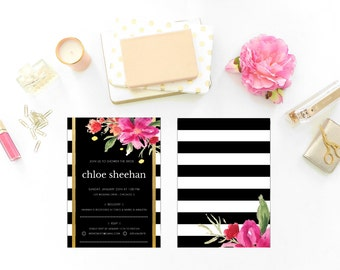 Watercolor Flower Shower Invitation