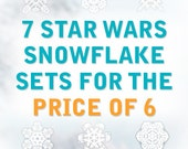 Star Wars Snowflake Window Cling Decals: All 7 sets for the price of 6