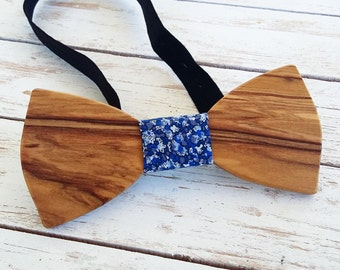 PAKILLON mod. Phoenix-wood bow with knot-tie tie bowtie fashion hipster