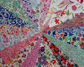 20 Liberty tana lawn cotton fabric 6 inch scraps bundle  patchwork  crafts sewing quilting