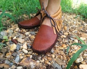 moccasins leather earthing  bison sole minimalist women's size 8 and 1/2