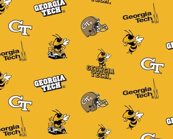 Ncaa Georgia Tech Yellow Jackets College Logo Cotton