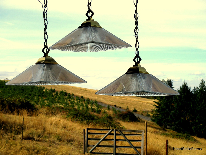 Pendant Lights Set Of 3 Vintage Pyramid Shaped Pendant