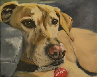 Dog Portrait, Custom Painting, Oil on Canvas, Gifts