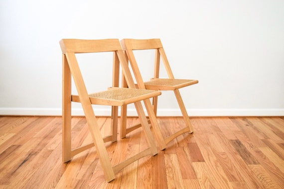 Folding Chairs Mid Century Chairs Retro Chairs Pair Of Mid