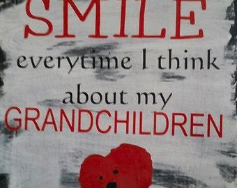 Grandchildren make me smile