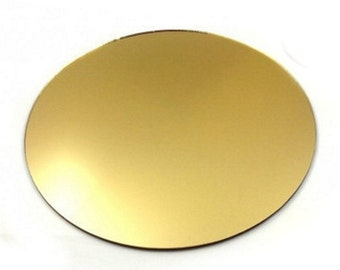 Round Cake Board in Gold Mirrored Acrylic  - 6 Sizes Available