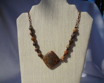 Jasper beaded necklace.