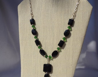 Gorgeous green goldstone necklace