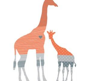 Giraffe Wall Decals - Jungle Giraffe Fabric Wall Decals