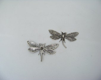 Tibetan Silver Dragonfly Charms/Links 4104