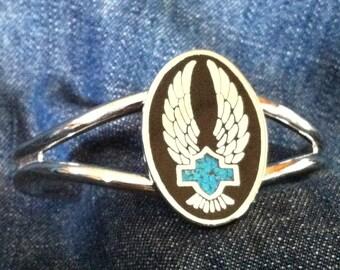 Silver Wings & HD Shield  Bracelet