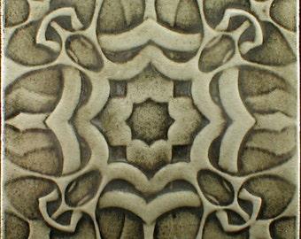 Gift tile, thistle, Accent tile, ceramic art, Decorative tile, kitchen tile, fireplace surround, backsplash, wall art