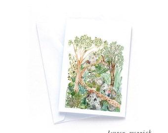 Greeting Card - Bushwalking