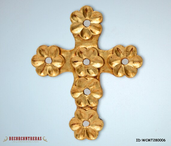 Gold Cross Wall Decor : Items similar to quot large gold religious wall crosses