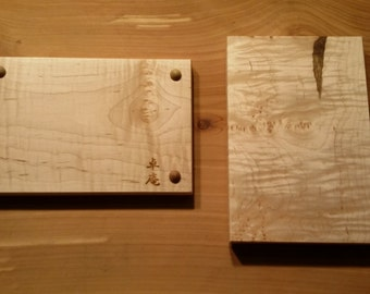 Tiger Maple Plate with Leg