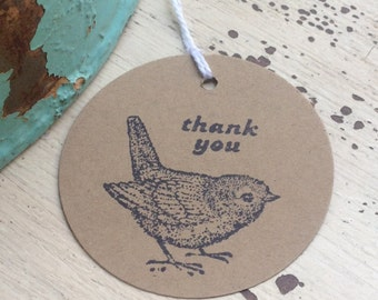 Pretty Bird Favor Tags / Thank you / Baby Shower / Birthday / Wedding