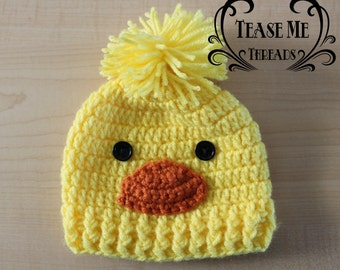 Little Duckling Crochet Hat_Crochet Baby Halloween Hat