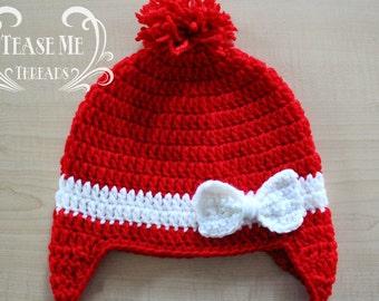 Holiday Crochet Hat_Winter Girls Hat