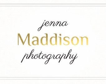 Gold Logo, Premade Logo, Photography Logo, Split Gold Font Logo, Blog Logo, Design Logo, Calligraphy Logo Design, Watermark, Stamp, L065