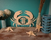 SALE!!! Crab custom Letter - Interlocking Vine Font - (you choose letter) DIY/ Unpainted/ Door Hanger/ unfinished