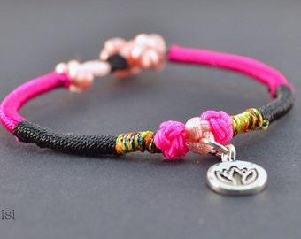 Bracelet pink lotus 925