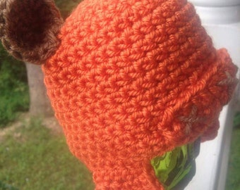 Baby Ewok Wicket Star Wars Inspired beanie and nerdy newborn photo prop