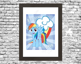 My Little Pony Rainbow Dash Wall Art Printable Instant Download