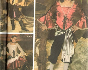PIRATES Simplicity Costumes for Kids Pattern 4469 Girls 7 8 10 12 14