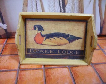 Drake Lodge Vintage Miniature Wooden Tray