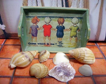 At the Beach Miniature Wooden Tray