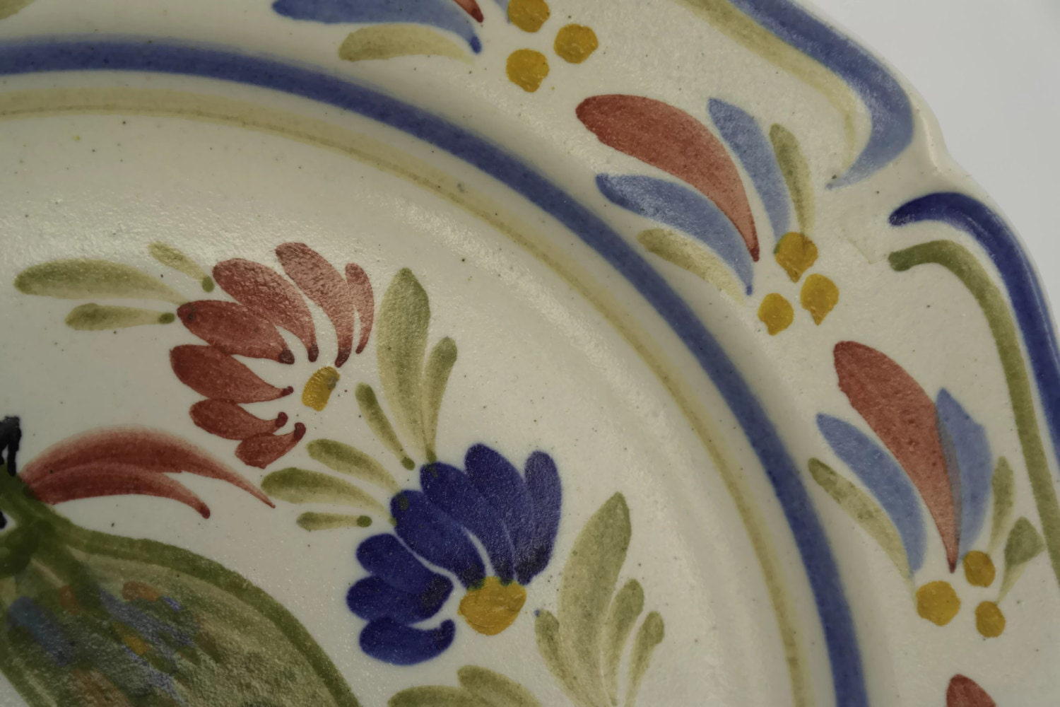 Decorative Wall Plates Nz : French vintage rooster plate hand painted keraluc wall