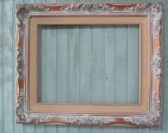 SHABBY CHIC FRAME, vintage picture frame,large frame,Gallery Frame,white Frame, Open frame, Wedding Frame,ornate frame