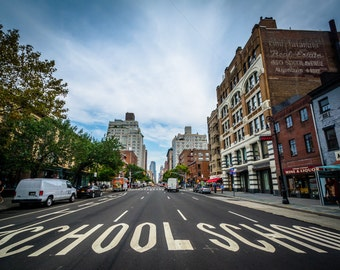6th Avenue, in Greenwich Village, Manhattan, New York - Photography Fine Art Print or Wrapped Canvas