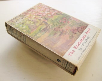 """Slipcased """"The Enchanted April"""" by """"Elizabeth."""" Dust-jacket. 1923, Doubleday Page and Co. Scarce edition. Free shipping."""