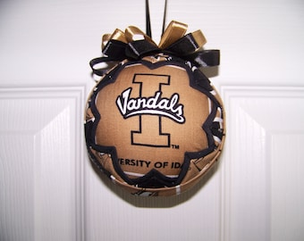 University of Idaho/ Vandals Quilted Ornament