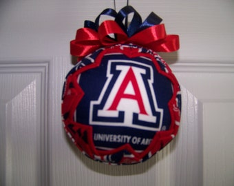 University of Arizona/ Wildcats Quilted Ornament