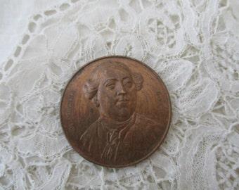 Old metal plaque