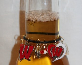 Wisconsin Badgers Beer Charm Wisconsin Charms College Charms Badgers Charms