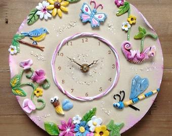Wall Clock Custom Made Ceramic -  Children's Design