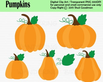 Pumpkin Clipart For Personal and Commercial Use, Digital Clip Art, Instant Download, fall, fall harvest, autom, pumpkins, clip art