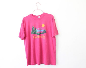 LARGE Vintage 1980s Goldendale, Washington Soft and Thin Graphic T-Shirt