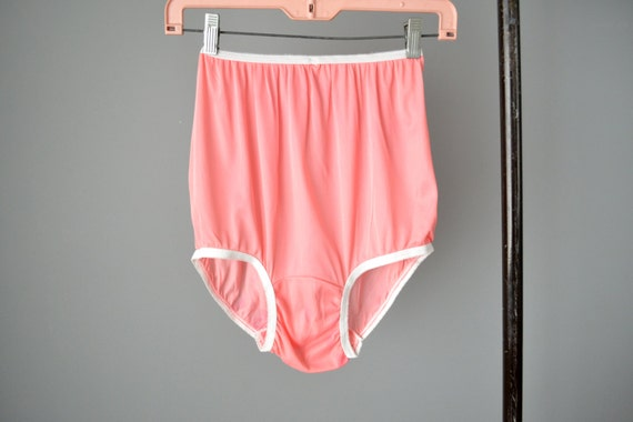 Vintage 50s 60s Pink High Waisted Nylon Panties Never Worn