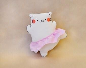"Ballet Cat ""Arabesque"" Pillow Plush"