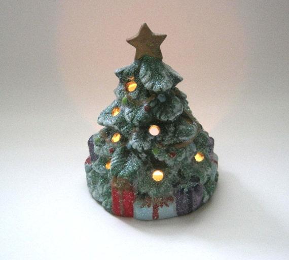 Ceramic Light Up Christmas Tree Uk: Glitter Christmas Tree Ceramic Christmas Tree Candle Holder