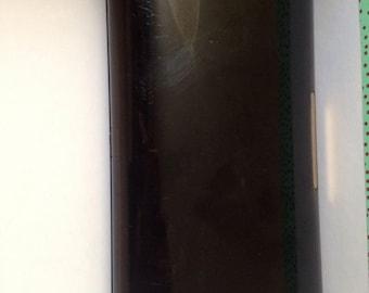 Dark Brown Lucite Clutch Bag Signed Estee Lauder New York London Paris